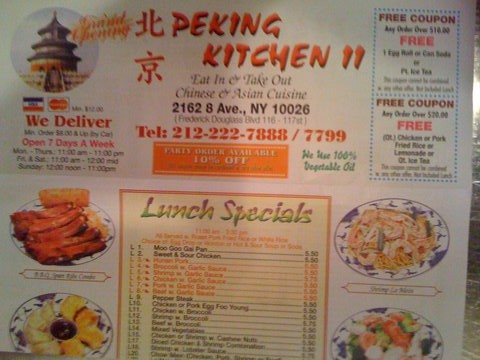 Peking Kitchen Arrives In Harlem