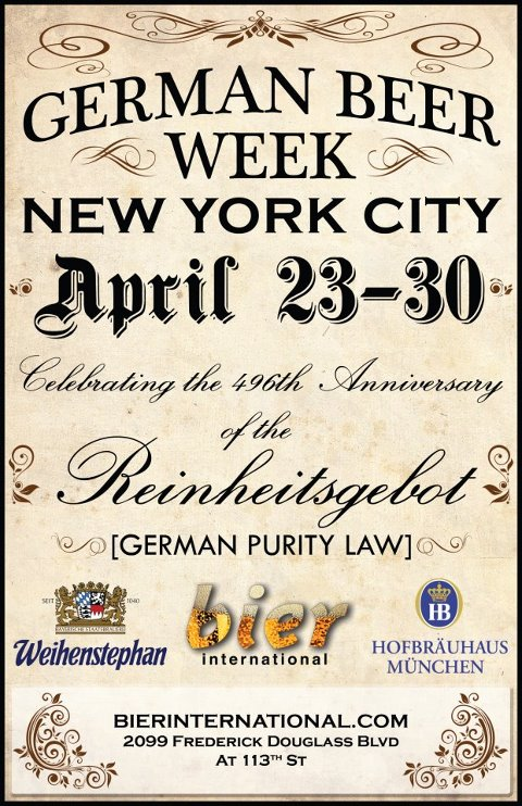 Bier International - German Beer Week April 23-30th